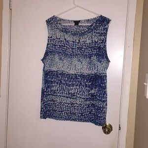 Ann Taylor Patterned Tank Top